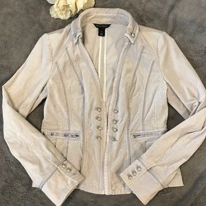 White House Black Market velour blazer